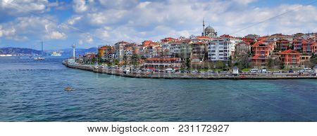Istanbul, Turkey - March 27, 2012: Bosporus. The Asian Part Of City.