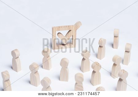The Crowd Of People Participates In The Election. Political Process, Forum, Referendum, Annexation,