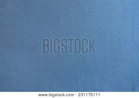 Top View Of Sky Blue Fleece Fabric