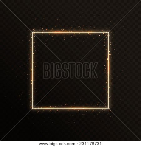 3387392 Gold Frame With Sparkles