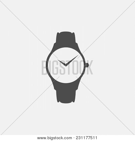 Vector Symbol Of Clock Web Line Isolated Icon