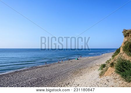 On This Beach Near The Ukrainian City Of Odessa There Are Always Many Holidaymakers