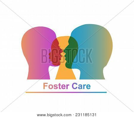 Foster Care Concept. Vector Illustration Of Family