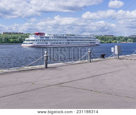 Moscow, Russia - June 27, 2017: North River Terminal Is One Of Two Terminals Of River Transport In M