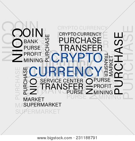 Crypto Currency. Virtual Currency. Set In Concept Of Business, Finance, Accounting Management And Ri
