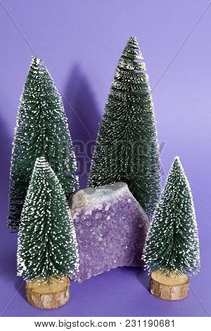 Amethyst In A Firs Forest