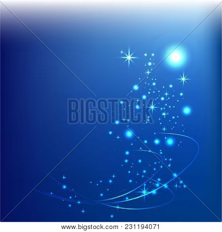 Abstract Blue Digital Ligth Vector Background For Web/print. Magic Ligth.