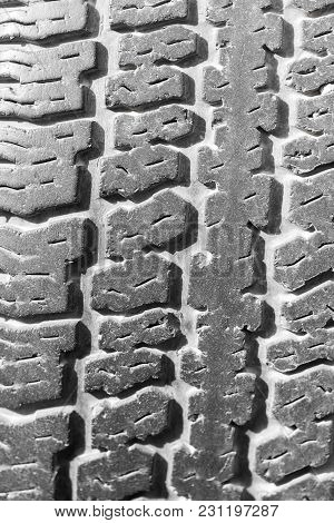 Tire Tread As Background . Photo Of An Abstract Texture
