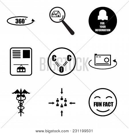 Set Of 9 Simple Editable Icons Such As Fun Fact, Customer Centric, Hipaa, 360 Photo, Carbon Monoxide