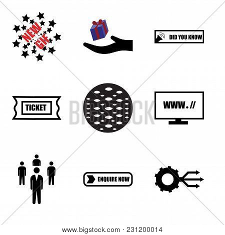 Set Of 9 Simple Editable Icons Such As Multi Channel, Enquire Now, Staff, Website, Anti Slip, Suppor