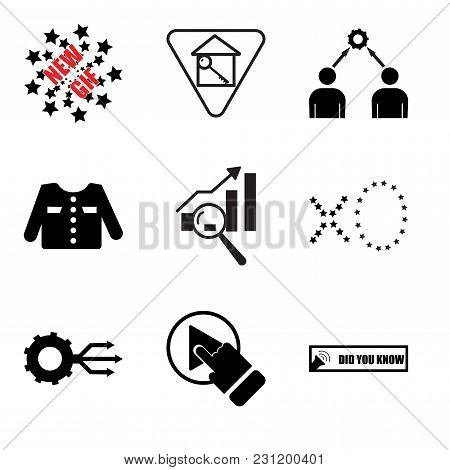 Set Of 9 Simple Editable Icons Such As Did You Know, One Stop Solution, Multi Channel, Xo, Gap Analy