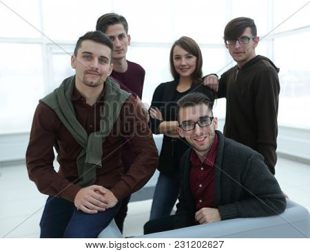 portrait of creative business team.
