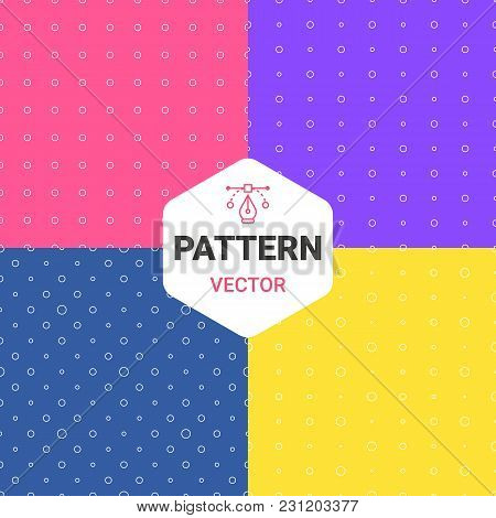 Colorful Pattern Of Multiples Dots. Set Backgrounds. Vector Illustration. May Use For Paper, Textile