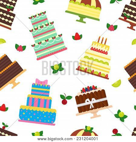 Birthday Cake Vector Cheesecake Vector Photo Bigstock