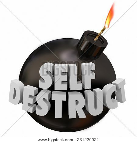 Self-Destruct Bomb Suicidal Behavior 3d Illustration