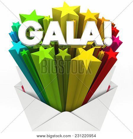Gala Party Event Celebration Invitation Envelope 3d Illustration