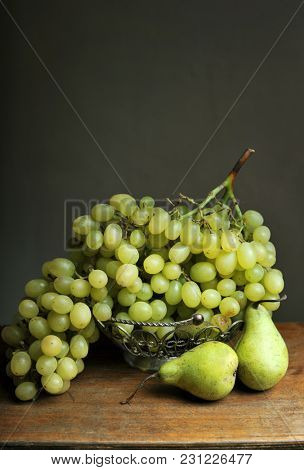 Still life in the Venetian style. Still life with grapes and pears