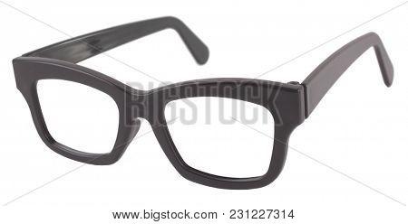 Classic simple eyeglasses black vintage frame