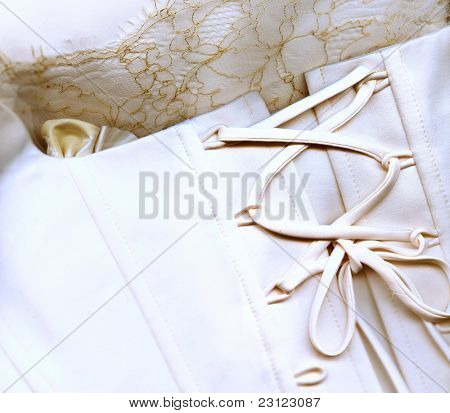 wedding background (corset and peals) poster