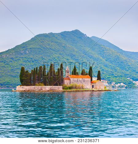 St. George Island (Sveti Dorde) in the Kotor Bay near Perast town, Montenegro - Water landscape
