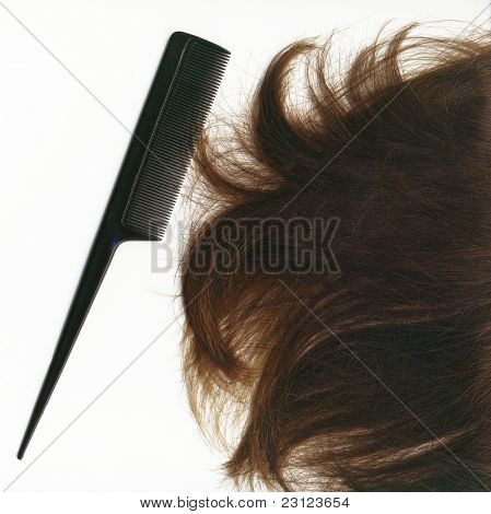 Hair and hairbrush