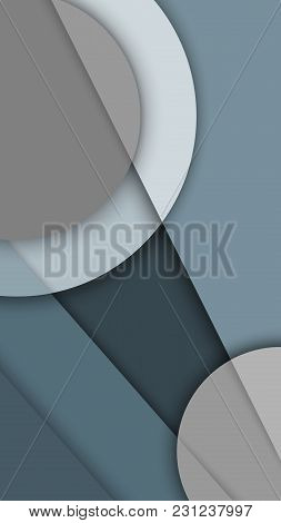 Background Image With Multi-level Surfaces In Gray Tones, Material Design, Monochrome