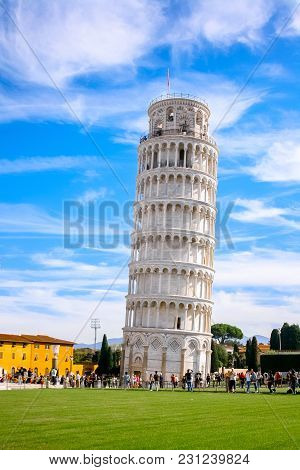 The Leaning Tower Of Pisa In The Square Of Miracles (piazza Dei Miracoli)