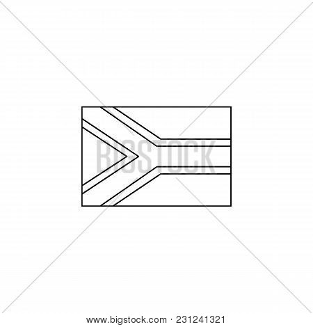South Africa Flag Icon. Outline South Africa Flag Vector Icon For Web Design Isolated On White Backg