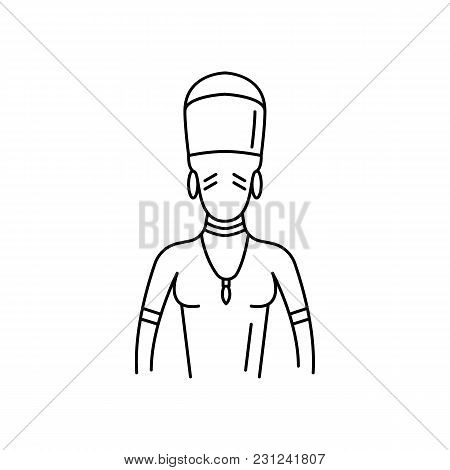 Zulu Man Icon. Outline Zulu Man Vector Icon For Web Design Isolated On White Background