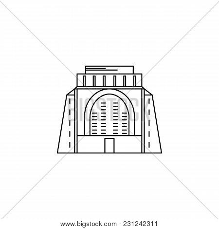 African Monument Icon. Outline African Monument Vector Icon For Web Design Isolated On White Backgro