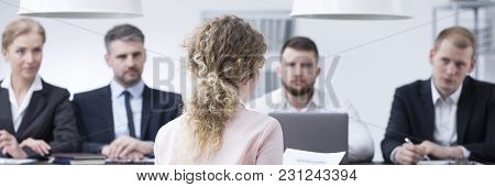 Terrified Woman During Job Interview