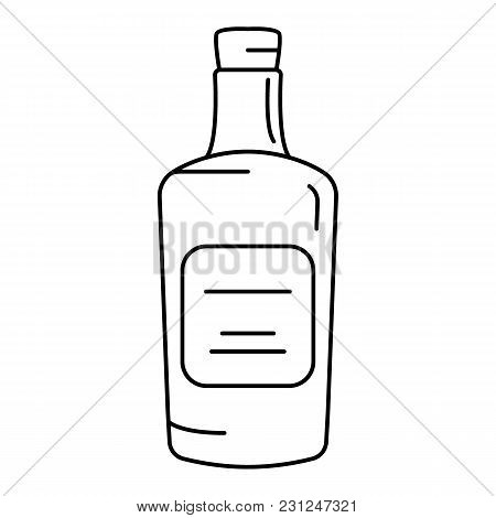 Rum Icon. Outline Rum Vector Icon For Web Design Isolated On White Background