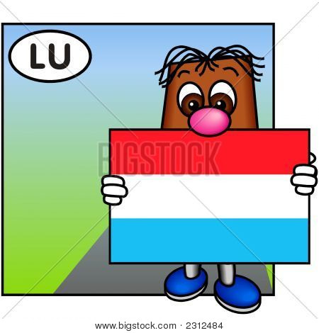 'Brownie' Showing The Flag Of Luxembourg