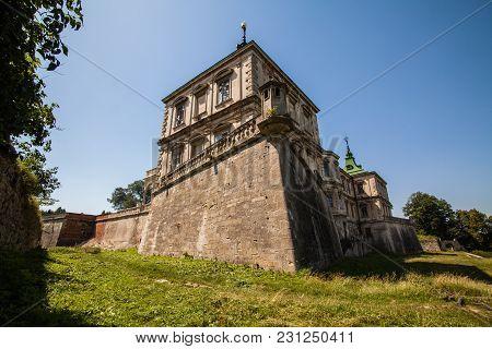 Old Palace Castle In Pidhirci Was Build In 1635-1640 By Stanislav Koniecpolski , Lviv Region, Ukrain