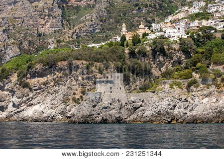 Exclusive Villas And Apartments On The Rocky Coast Of Amalfi. Campania. Italy