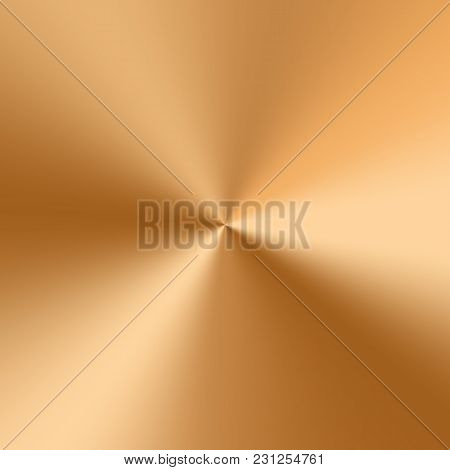 Golden Conical Gradient With A Metallic Texture And Bright Highlights
