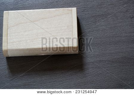 Usb Flash Drive With Wooden Surface In Wooden Box On Desk For Usb Port Plug-in Computer Laptop For T
