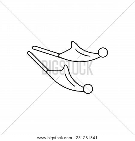 Turkish Footwear Icon. Outline Turkish Footwear Vector Icon For Web Design Isolated On White Backgro