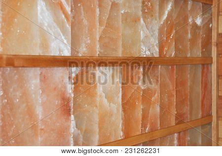 Dry Himalayan Salt Sauna Wall. An Infrared Himalayan Salt Sauna Uses Heaters To Emit An Infrared Rad