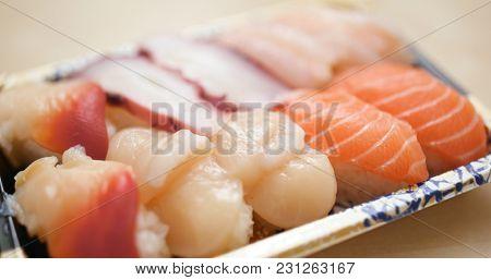 Take away sushi