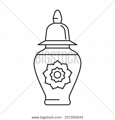Turkish Vase Icon. Outline Turkish Vase Vector Icon For Web Design Isolated On White Background
