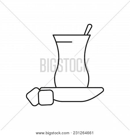 Turkish Tea Icon. Outline Turkish Tea Vector Icon For Web Design Isolated On White Background