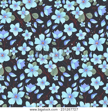 Elegance Floral Summer Or Spring Pattern Template. Seamless Pastel Vintage Pattern For Decorating Te