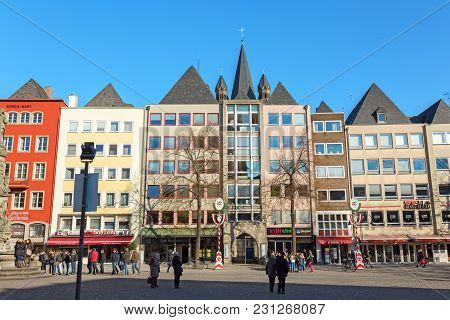 View Of The Old Market Square In Cologne, Germany