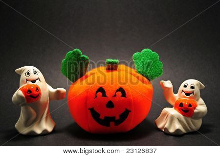 Halloween Pumpkins and Ghostly Pranksters