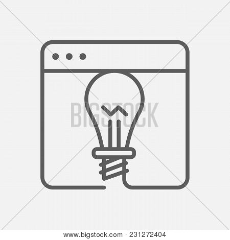 Project Icon Line Symbol. Isolated Vector Illustration Of  Icon Sign Concept For Your Web Site Mobil