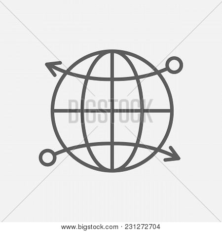 Cdn Icon Line Symbol. Isolated Vector Illustration Of  Icon Sign Concept For Your Web Site Mobile Ap