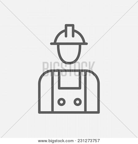Labor Icon Line Symbol. Isolated  Illustration Of  Icon Sign Concept For Your Web Site Mobile App Lo