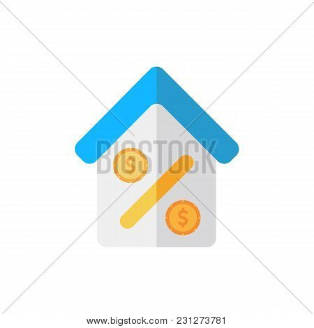 Home Loan Icon Flat Symbol. Isolated  Illustration Of  Icon Sign Concept For Your Web Site Mobile Ap