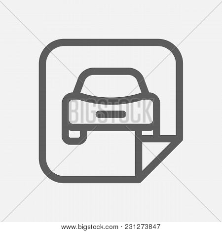 Car Badge Icon Line Symbol. Isolated  Illustration Of  Icon Sign Concept For Your Web Site Mobile Ap